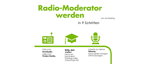Radiomoderator werden: In 9 Schritten zum Traumjob