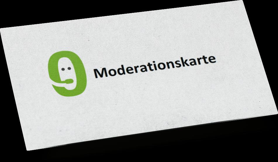 Moderationskarte Mockup